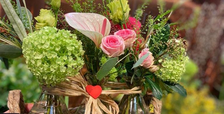 Blooming vases