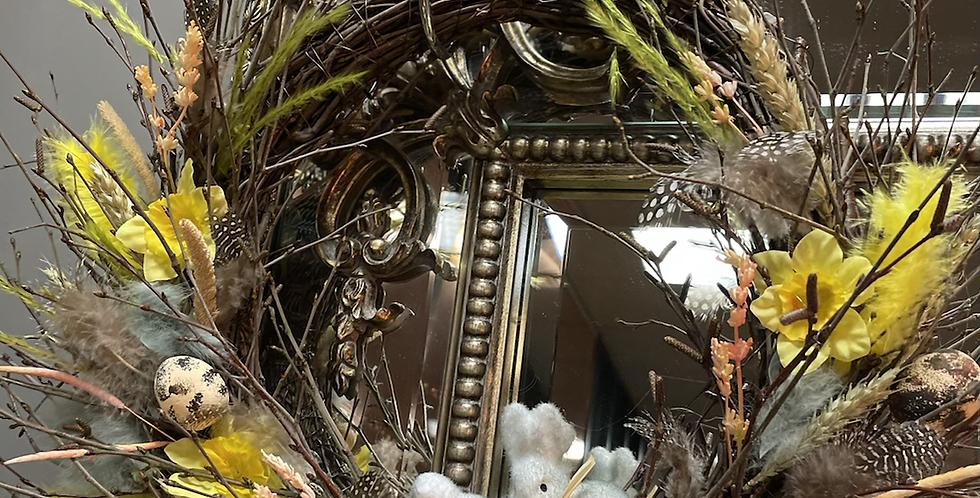 Bunny Easter door wreath