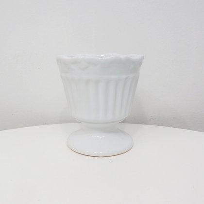 Vaso Canelado Branco P