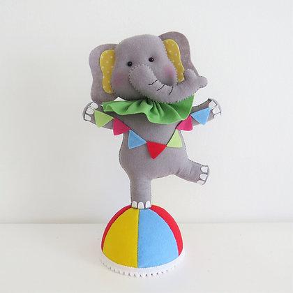 Elefante Equilibrista Feltro (Circo)