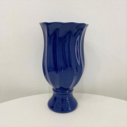 Vaso Ondulado Azul Marinho