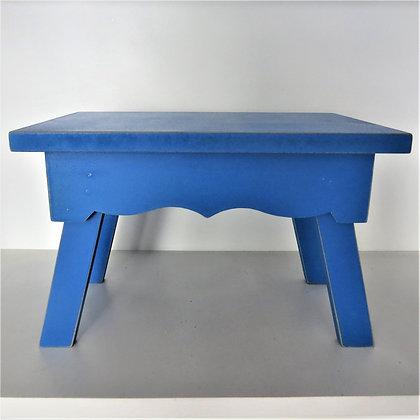Banco Retangular Azul