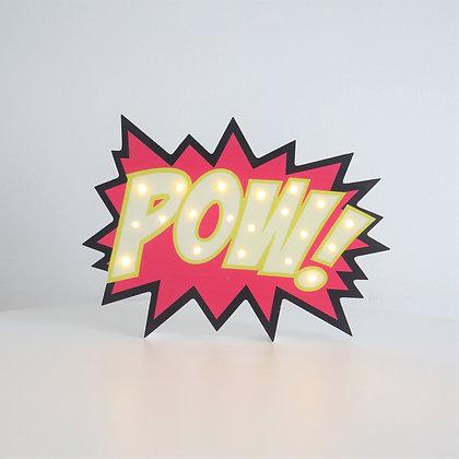 POW Luminoso - Super Heróis