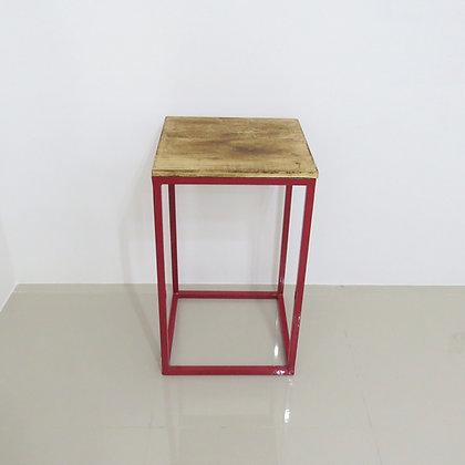 Mesa Cubo Vazado Vermelho 4