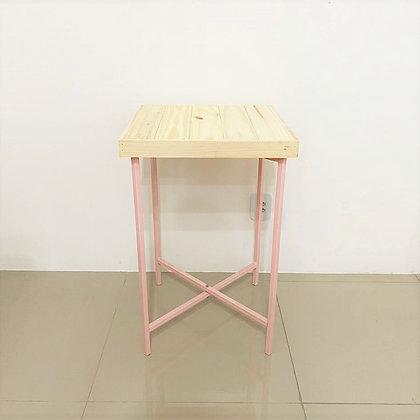Mesa Cubo Desmontável Rosa Candy M