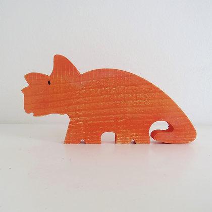 Dinossauro Laranja Madeira