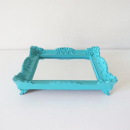 Bandeja Rococó Azul Tiffany