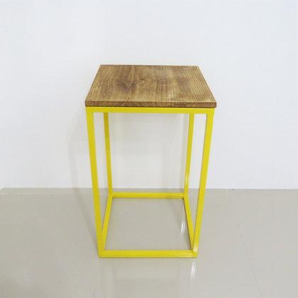 Mesa Cubo Vazado Amarelo 3