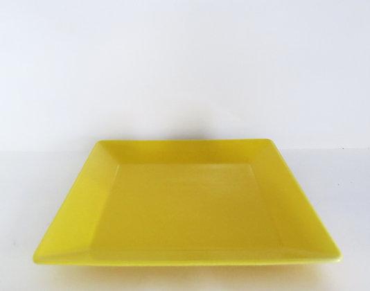 Bandeja Quadrada Amarela