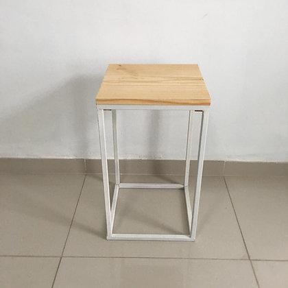 Mesa Cubo Vazado Branco 4