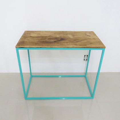 Mesa Cubo Vazado Azul Tiffany 1