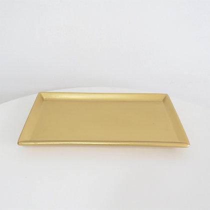 Bandeja Ret Dourada M
