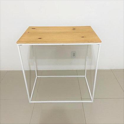 Mesa Cubo Vazado Branco 1