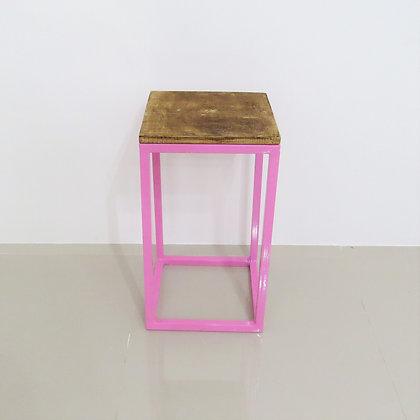 Mesa Cubo Vazado Rosa 4