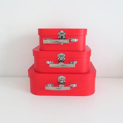 Trio Maletas Vermelha