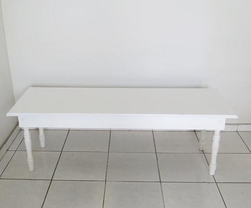 Mesa Aparador Pé Fino Branca 1,50m (baixa)