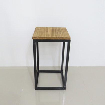 Mesa Cubo Vazado Preto 4