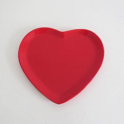 Bandeja Coração Vermelha