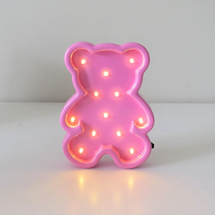 Urso Luminoso Rosa