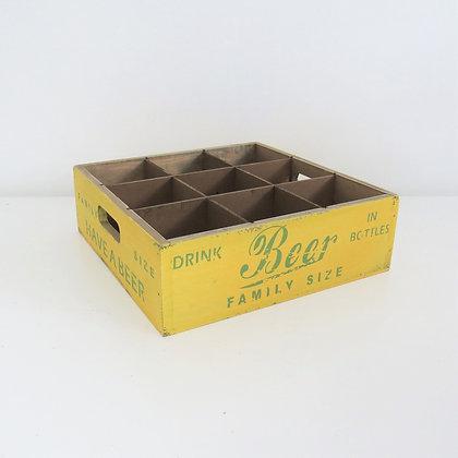 Engradado Vintage Amarelo (9 garrafas)