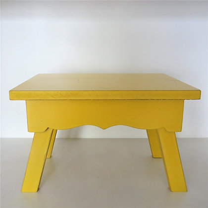 Banco Retangular Amarelo