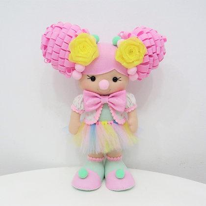 Palhaça Circo Rosa  (cabelo rosa)