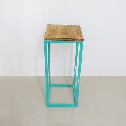 Mesa Cubo Vazado Azul Tiffany 2
