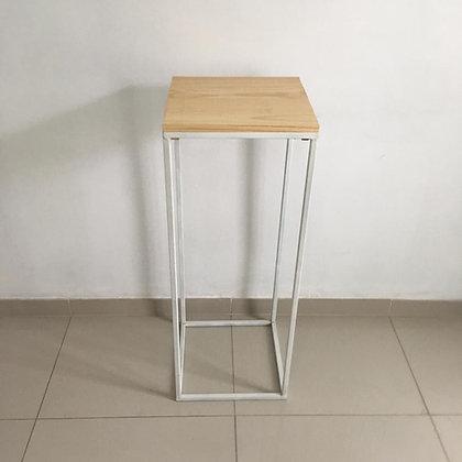Mesa Cubo Vazado Branco 5 (+ alta)