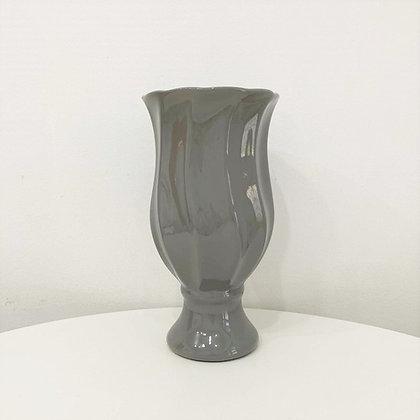 Vaso Ondulado Cinza
