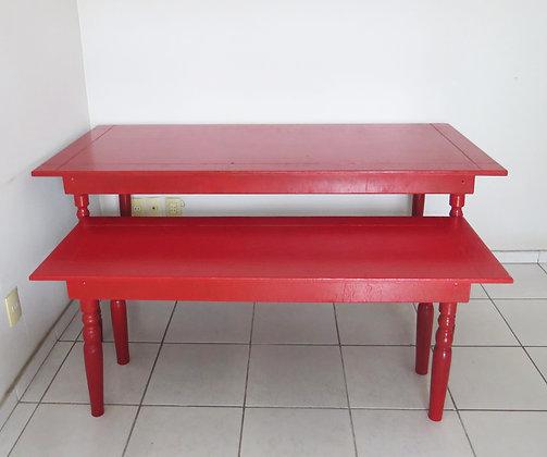 Mesa Vermelha 1,80m (maior/alta)