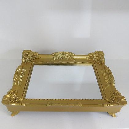 Bandeja Rococó Dourada