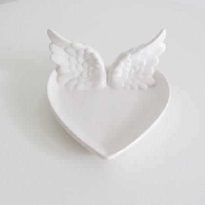 Bandeja Coração Asas - Batizado - Comunhão