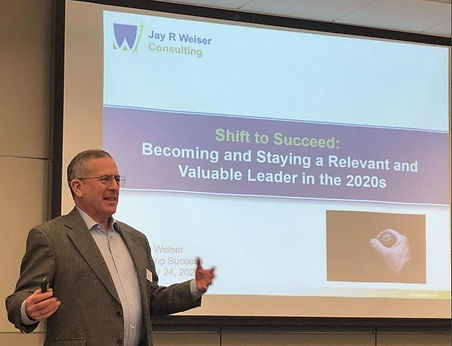 Jay Weiser speaking at Kettering about becoming and staying a relevant and valuable leader in the 2020s