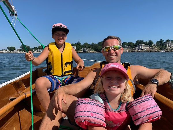 Family Sailing in Branford Harbor with N
