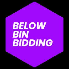 BELOW BIN BIDDING