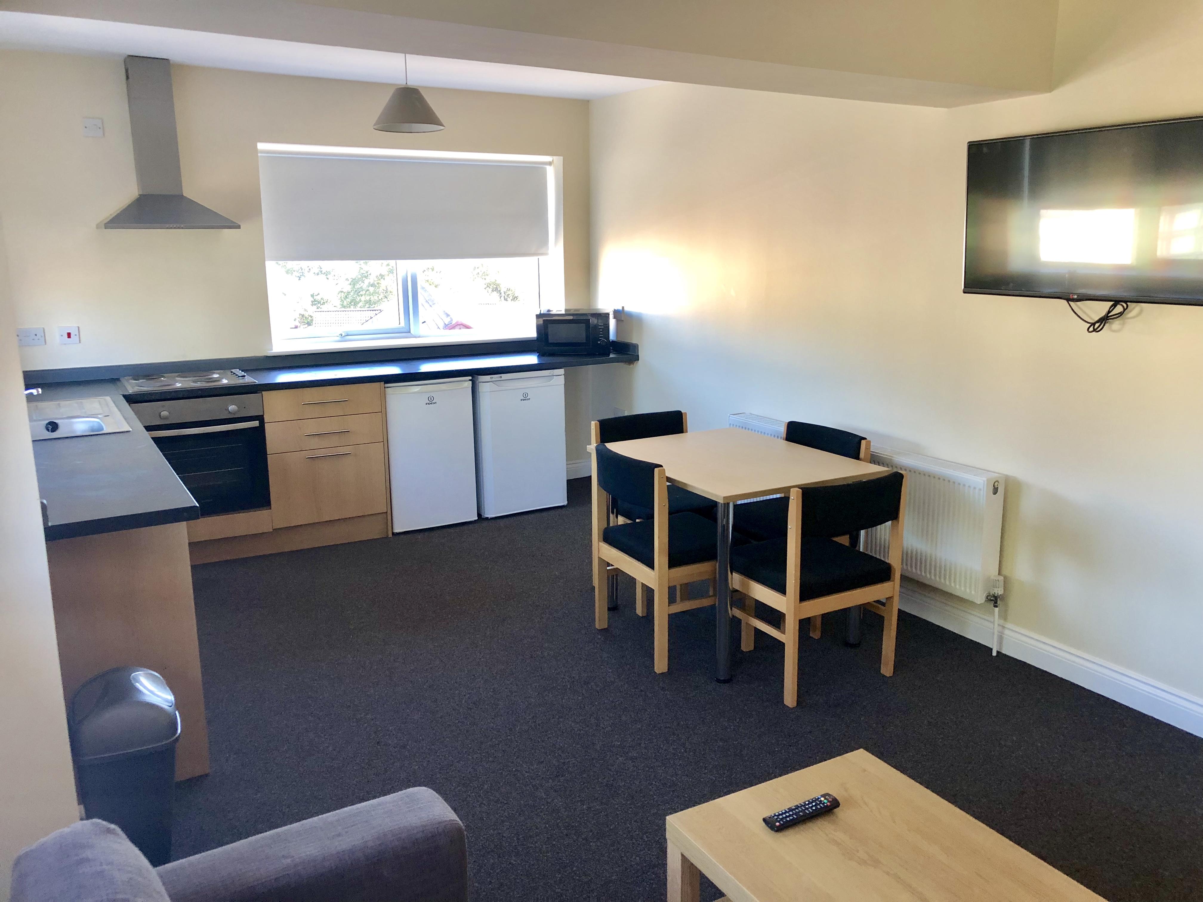 Belle Court- Kitchen/ Living Area
