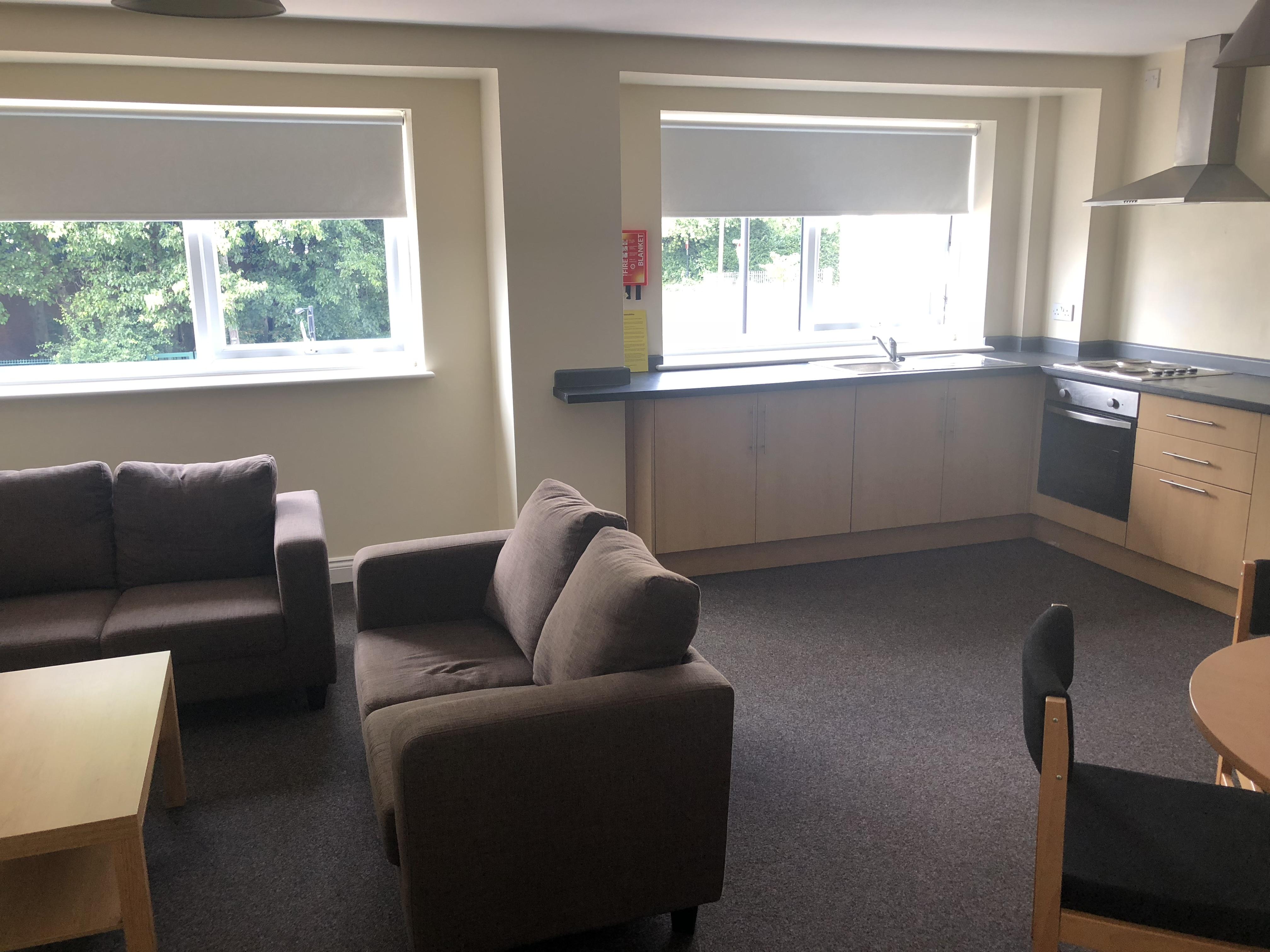 Belle Court- Kitchen/Living Area