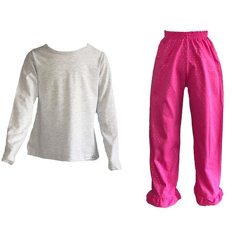 Pijama Glitter Malha