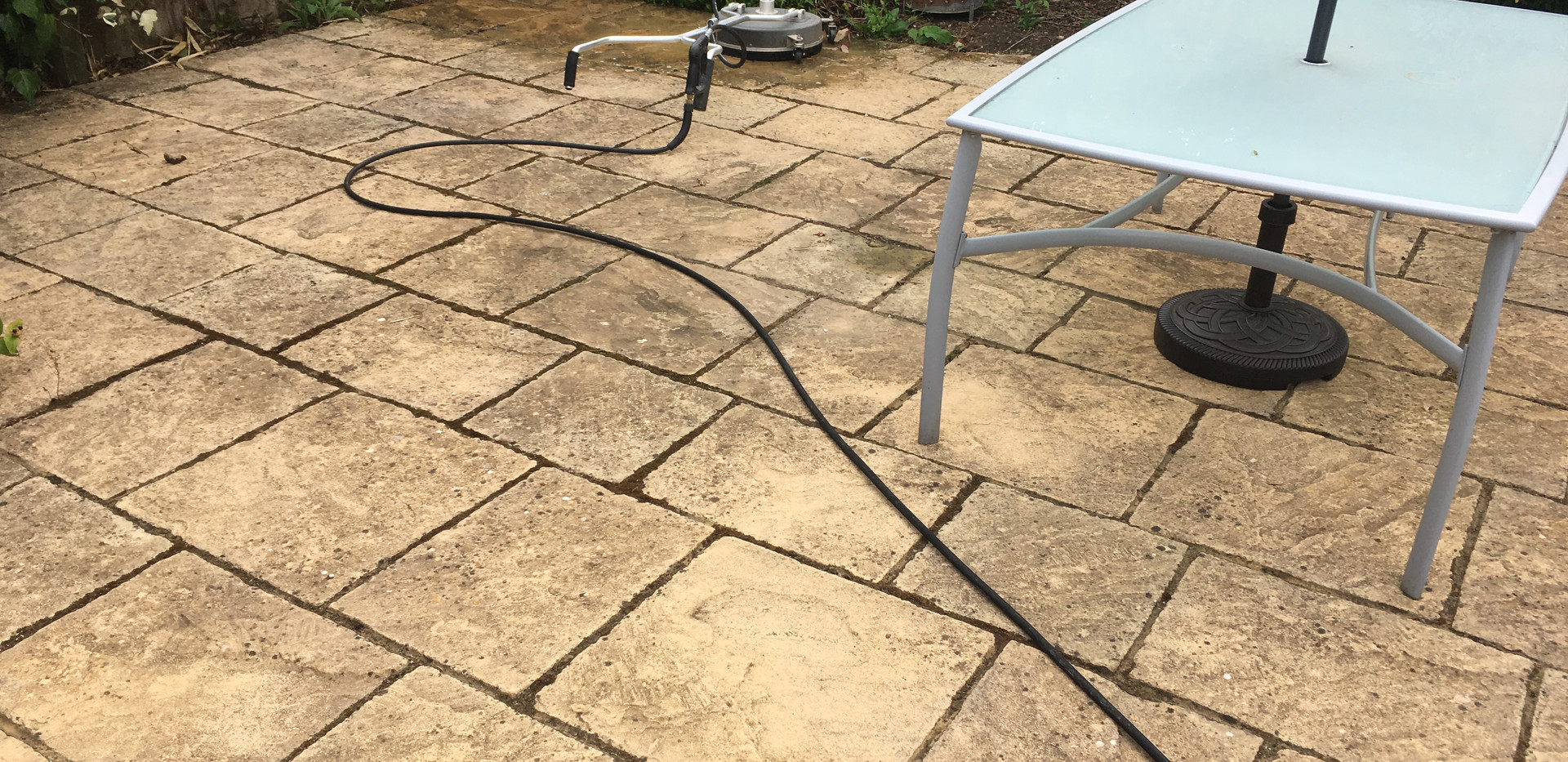 Patio cleaning Lichen removal