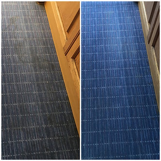 Kitchen carpet before and after cleaning