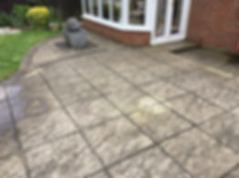 Patio cleaning surface clean