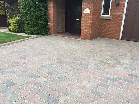 Cleaned and resanded block paving