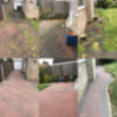 Block paving weed removal and cleaning.j