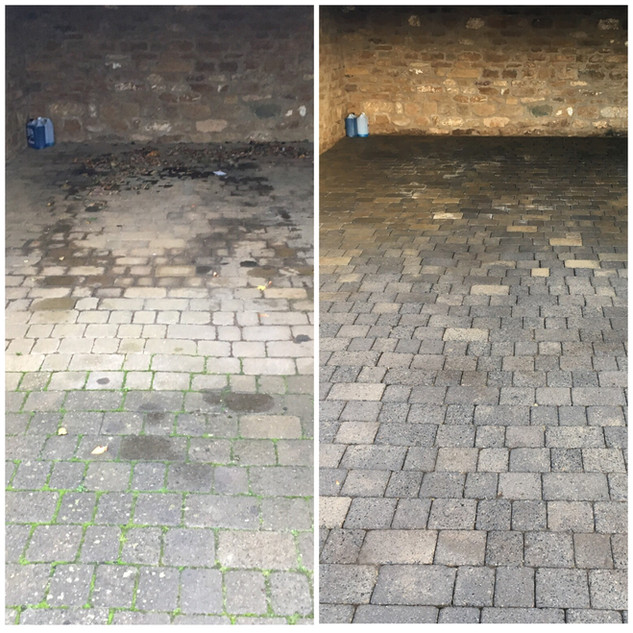 Surface Clean Banbury drive oil removal