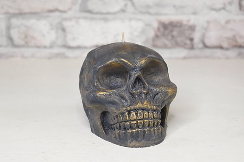 Antique skull candle