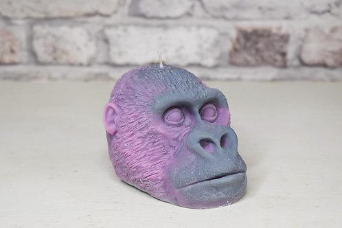 Grey & pink gorilla candle