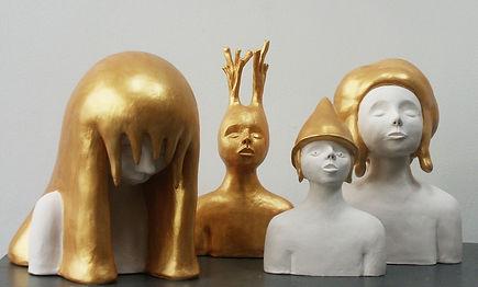 Les-ors-III-céramiques-peintes-grés-porc