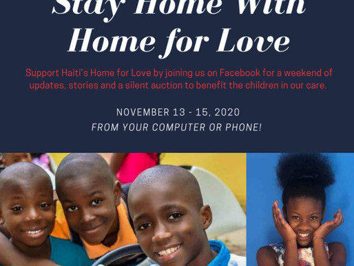 Mark your calendars NOV 13 AT 3 PM PST – NOV 15 AT 6 for an online weekend to support Home for Love!