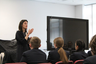 Prudence Beaumont barrister visit from Dean's Court Chambers