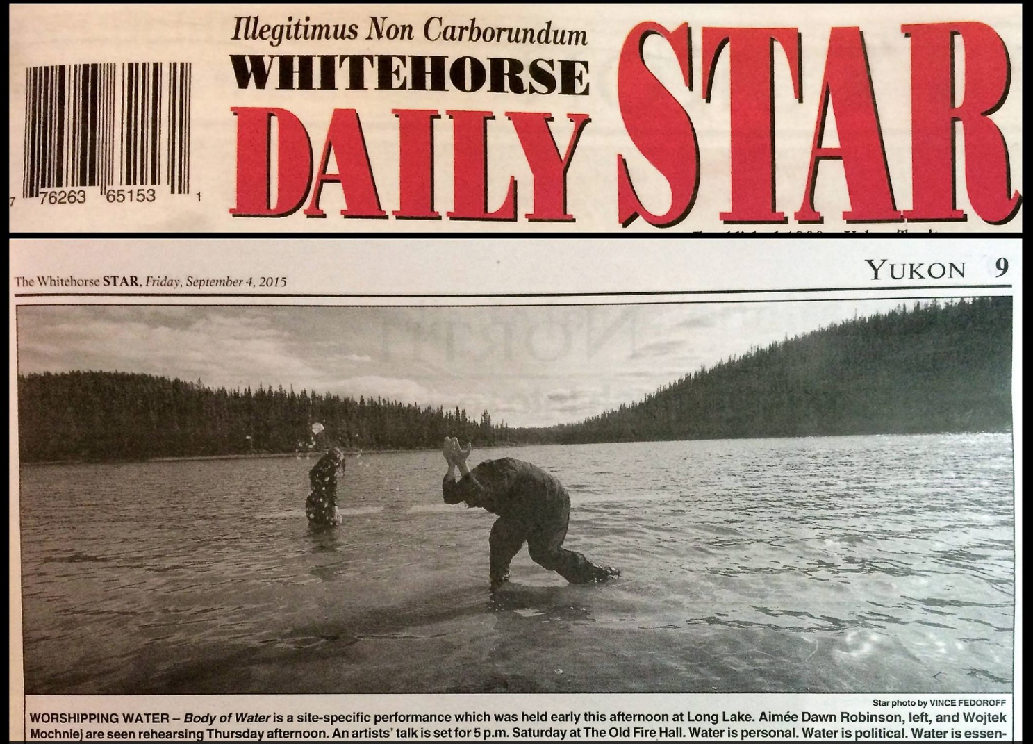 Cover of the Whitehorse Star